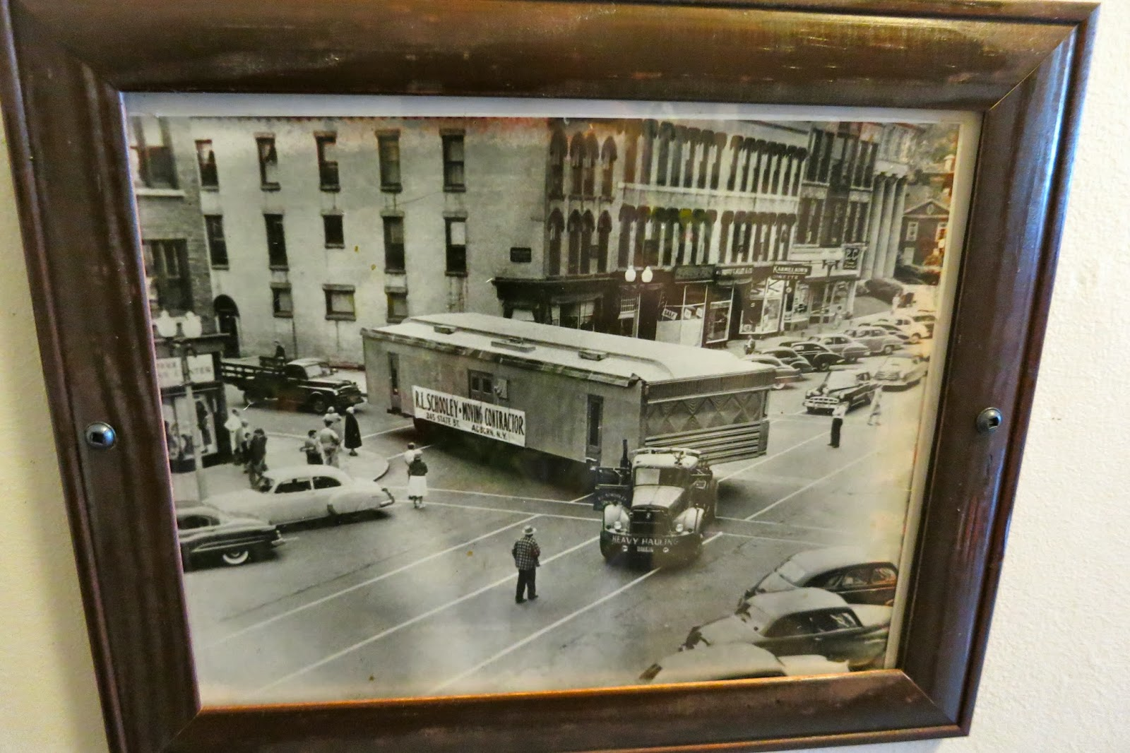 Moving The Present Diner In The Early 1950s.