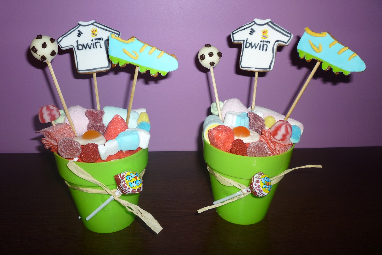 Chuches a la carta macetas de chuches real madrid for Centros de mesa con chuches