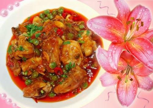 Tumis-tumis Ramadan Chef Sabri, Juadah Aidilfitri, NASI TOMATO, ASPARAGUS GORENG BELACAN, AYAM MASAK MERAH