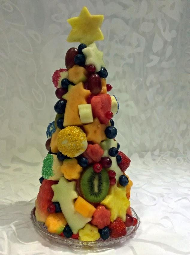 Фруктовая ёлка своими руками из фруктов