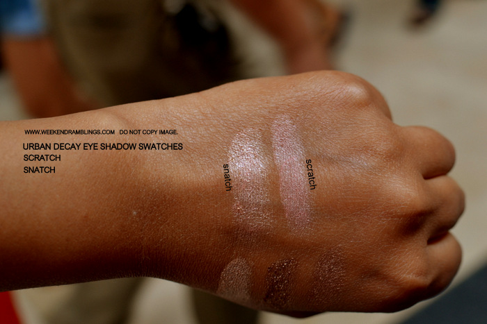 Urban Decay Makeup Eyeshadow Indian Beauty Blog Swatches FOTD Brown Beige Snatch Scratch