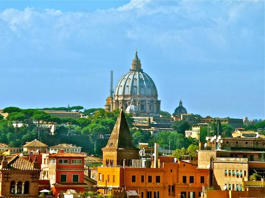 View on the St. Peter's Basilica Dome from the Garden of Oranges