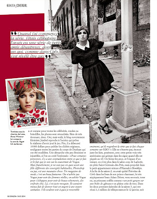 Lena Dunham Grazia France Magazine Photoshoot Janvier 2014
