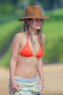 Olivia Wilde in a tiny Bikini while on vacation in Hawaii