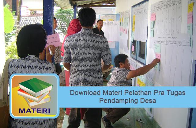 Download Materi Pelathan Pra Tugas Pendamping Desa