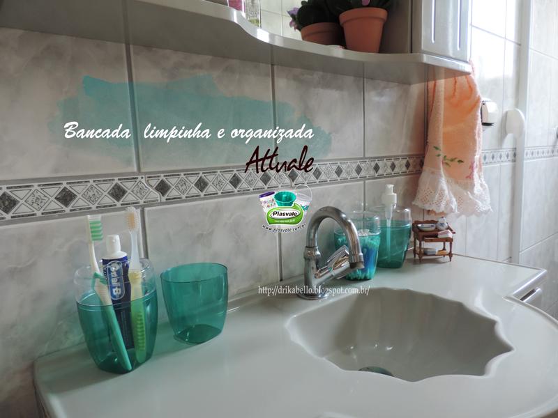 Tricotando a Vida PlasvaleKit Banheiro 3 Peças Attuale -> Kit Acessorios Pia De Banheiro