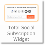 Total Social Subscription widget for Blogger/Wordpress