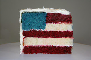 American Flag Cake from The Sugar Turntable