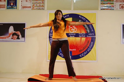 Namitha's As Yoga Guru In Love College Telugu Movie