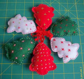 Costura: Paso a paso de adornos de fieltro para Navidad. Desafío Love Craft