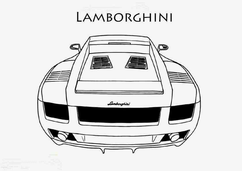 coloriage lamborghini galardo imprimer coloriage voiture. Black Bedroom Furniture Sets. Home Design Ideas