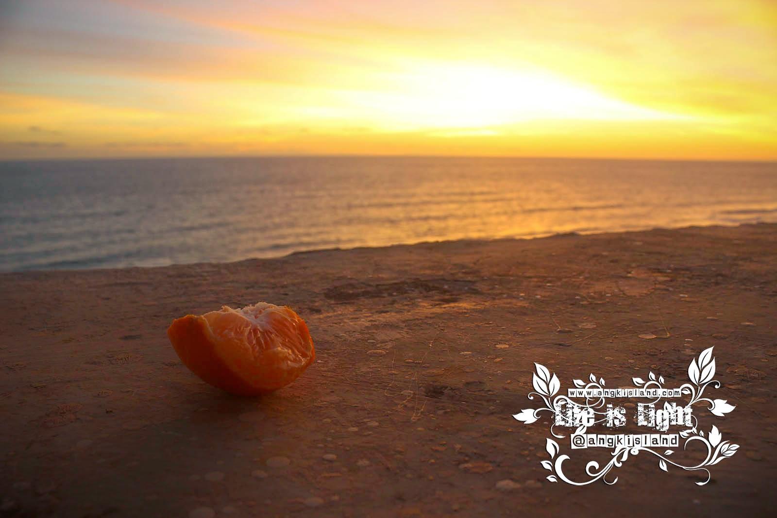 Jeruk di tepi laut
