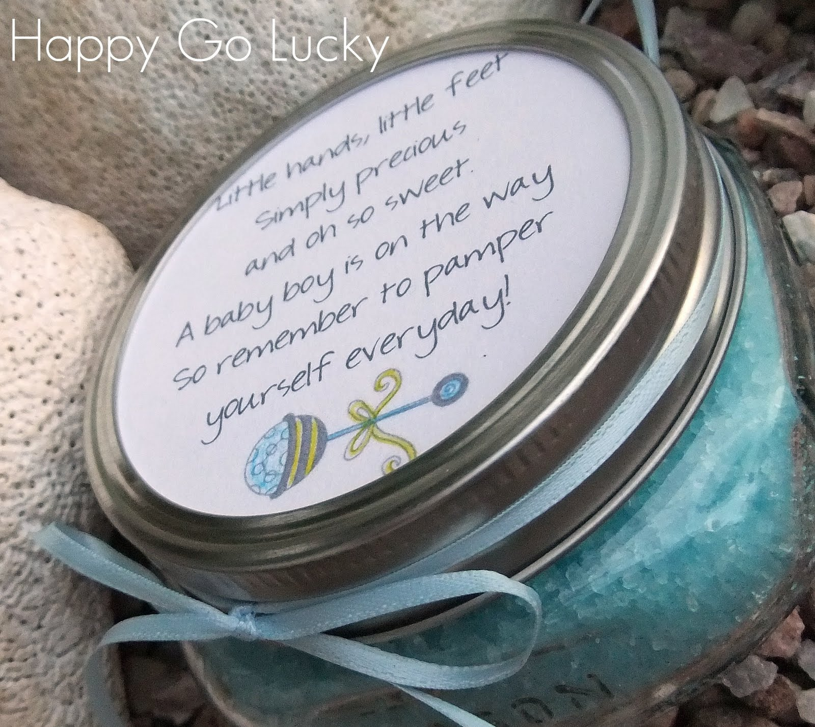 Body Scrub Baby Shower Favor