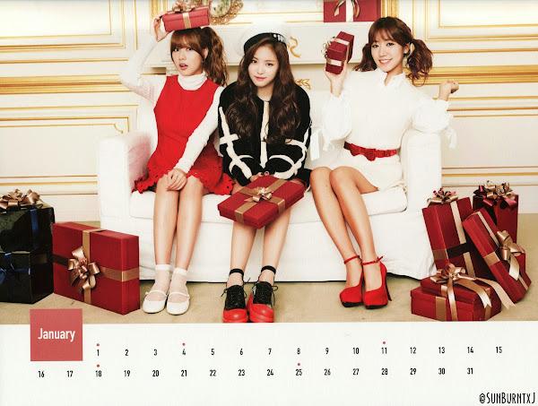 Apink calendar 2015 scans Hayoung Naeun Namjoo