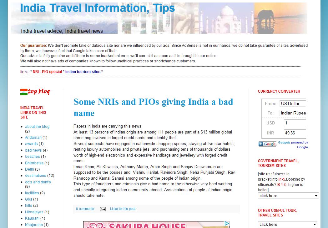 blog travel bloggers india