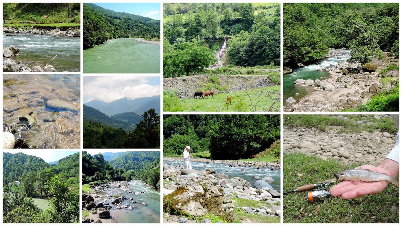 горы, реки, природа Грузии