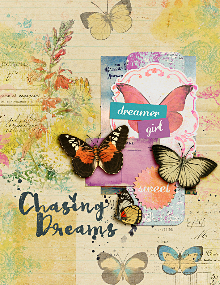 sharing a couple digital mixed media art journaling art worship pages I created using digital scrapbooking supplies from The Lilypad