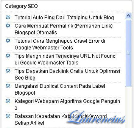 Scroll-pada-kategori-label