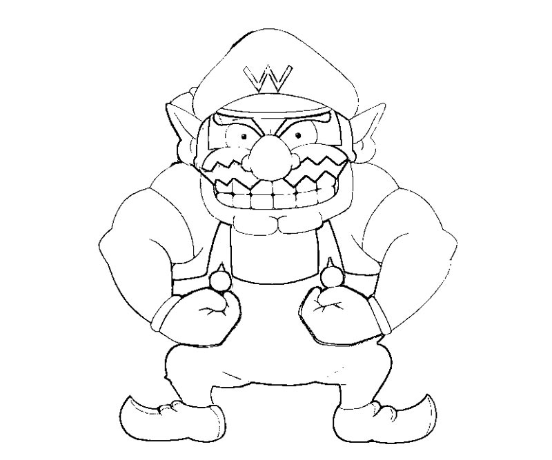 wario coloring pages - photo#24