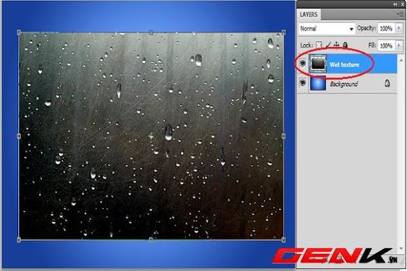 Tạo hiệu ứng chữ nổi trên cửa sổ ướt bằng Photoshop