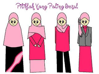 pakaian yang betul untuk muslimah