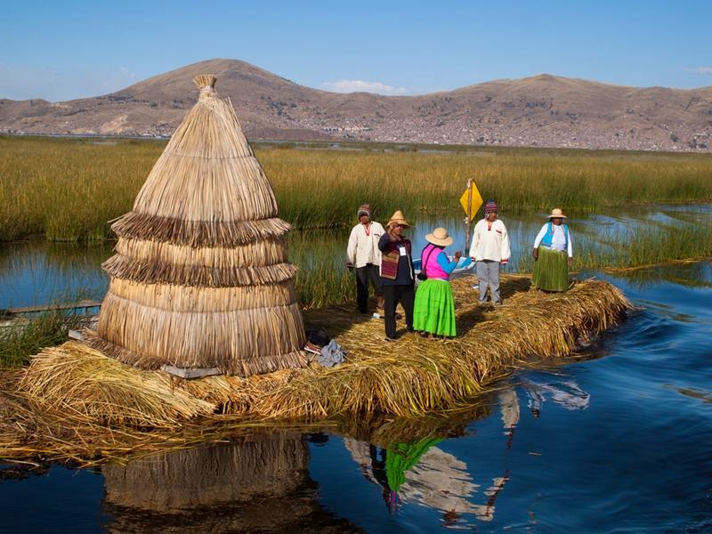 Floating Reed Islands Lake Titicaca Peru