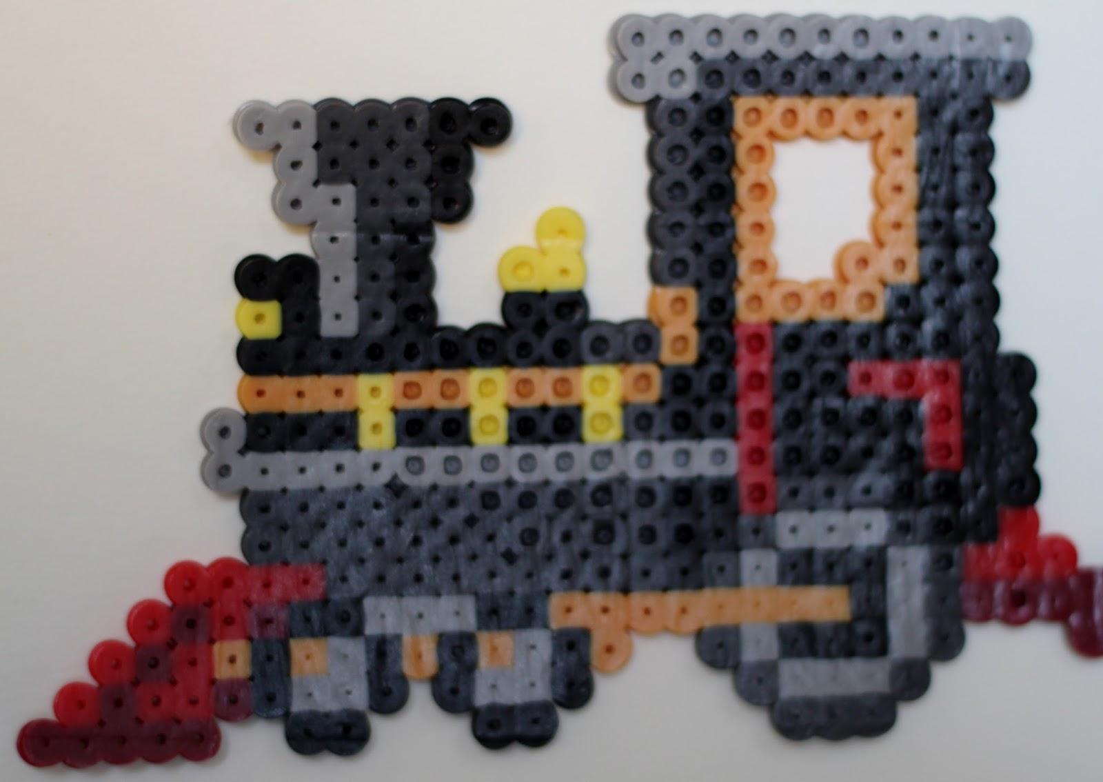 children s train locomotive engine passenger car perler bead