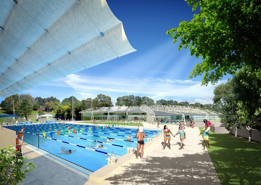 Swimming bexley pool proposal for re development for 50m pool design