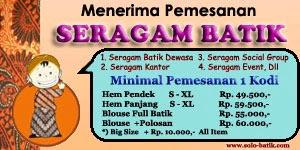 Pemesanan Seragam Baju Batik