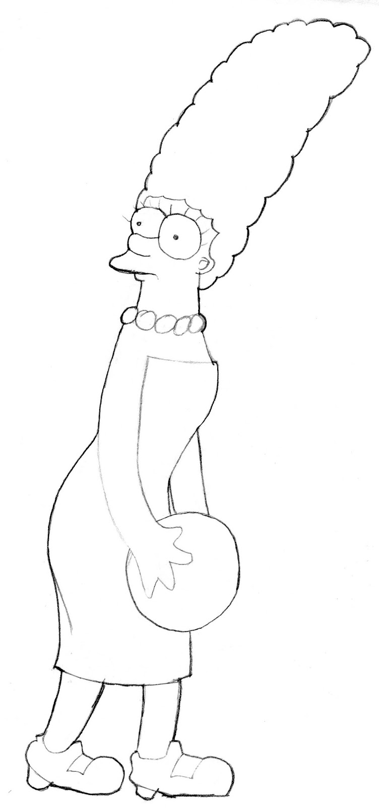 Original Simpsons Drawings Original Simpsons Drawings