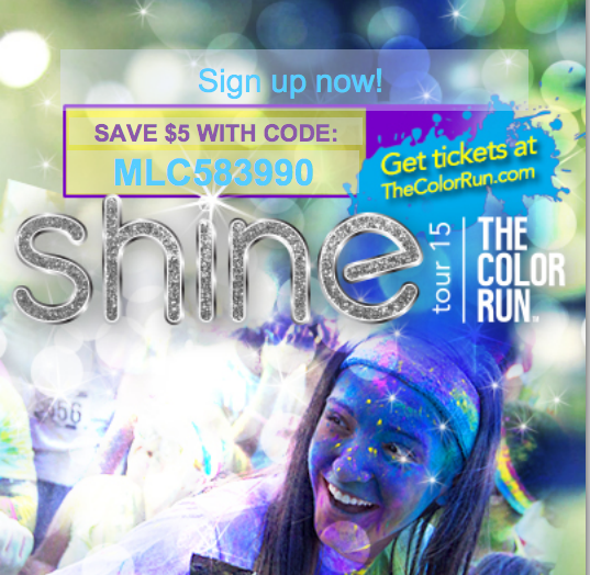 The Color Run coupon code