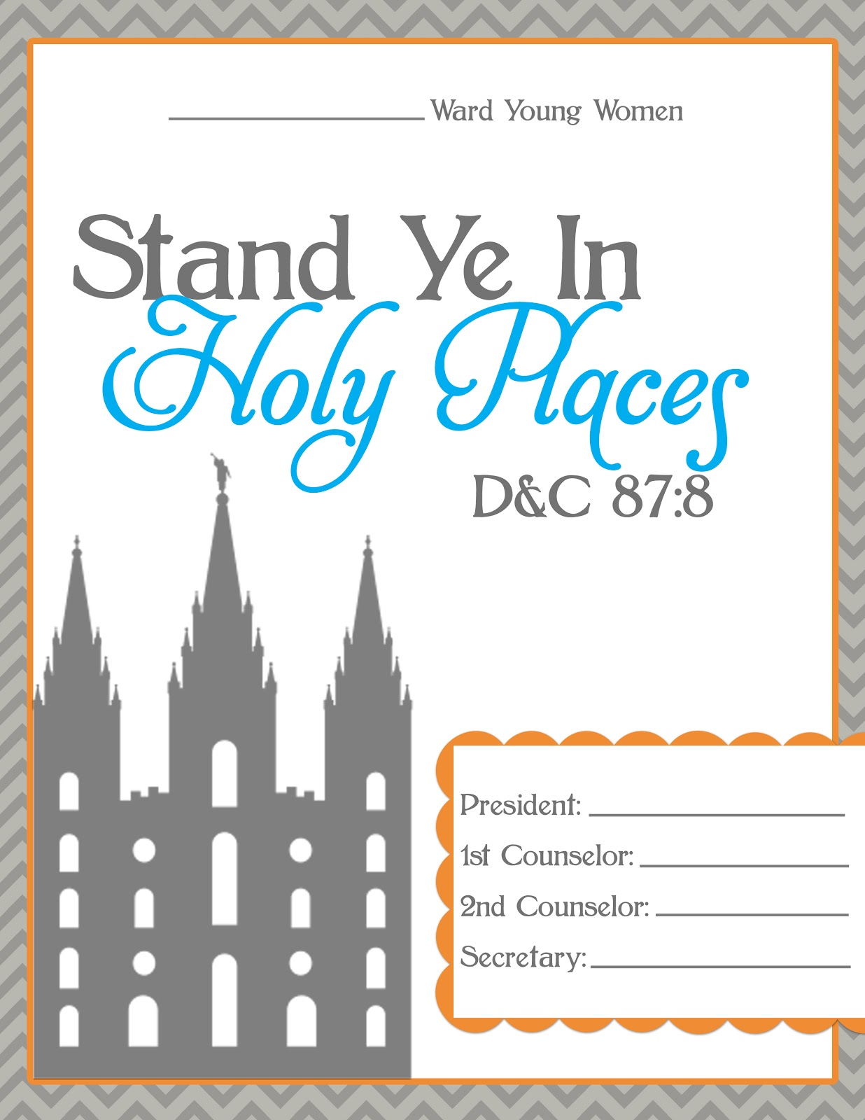 2012 lds primary theme program cover | just b.CAUSE