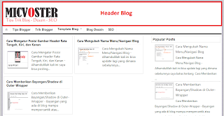 Cara Mengubah Ukuran Header Blog