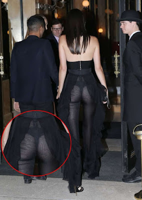Kendall Jenner Wearing Thong In A See Through Dress