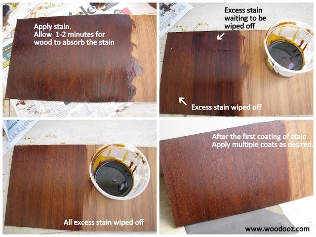 Applying wood stain - How to