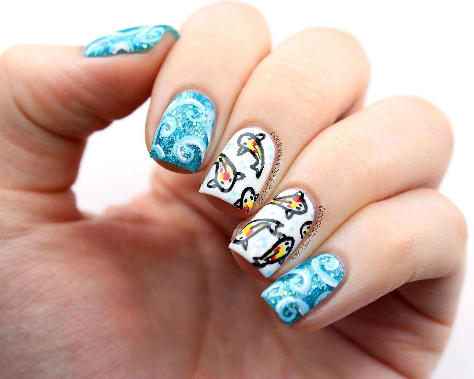 Koi Fish Nail Art - 2018 images & pictures - PlumeriaPainted Koi ...