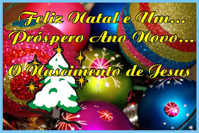 Felíz Natal e Próspero Ano Novo