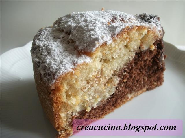 torta di banane al cacao