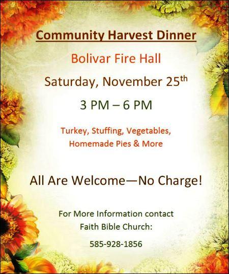 11-25 Community Harvest Dinner
