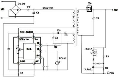 Hình 23 - Mạch nguồn sử dụng IC công suất