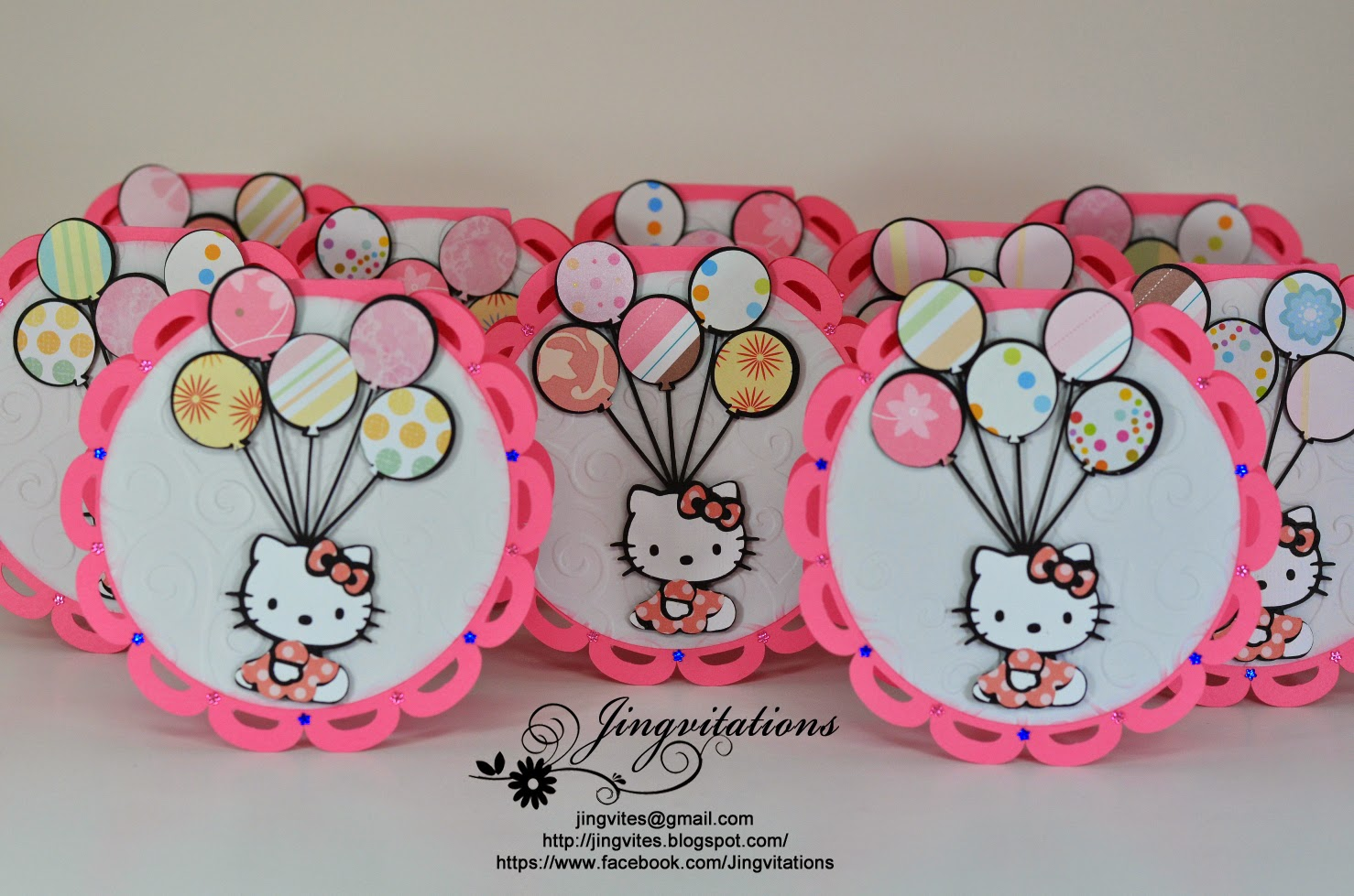 Jingvitations Hello Kitty Birthday Party Invitations Banner - Birthday invitation in germany