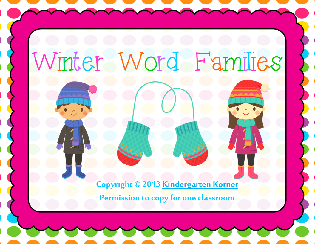 http://www.teacherspayteachers.com/Product/Winter-Word-Families-Literacy-Centers-471876