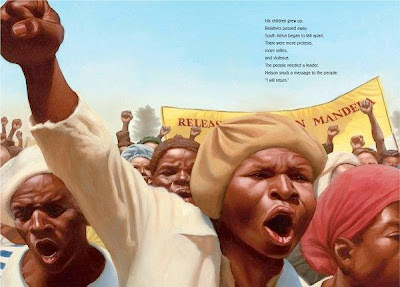 sample page from NELSON MANDELA  by Kadir Nelson