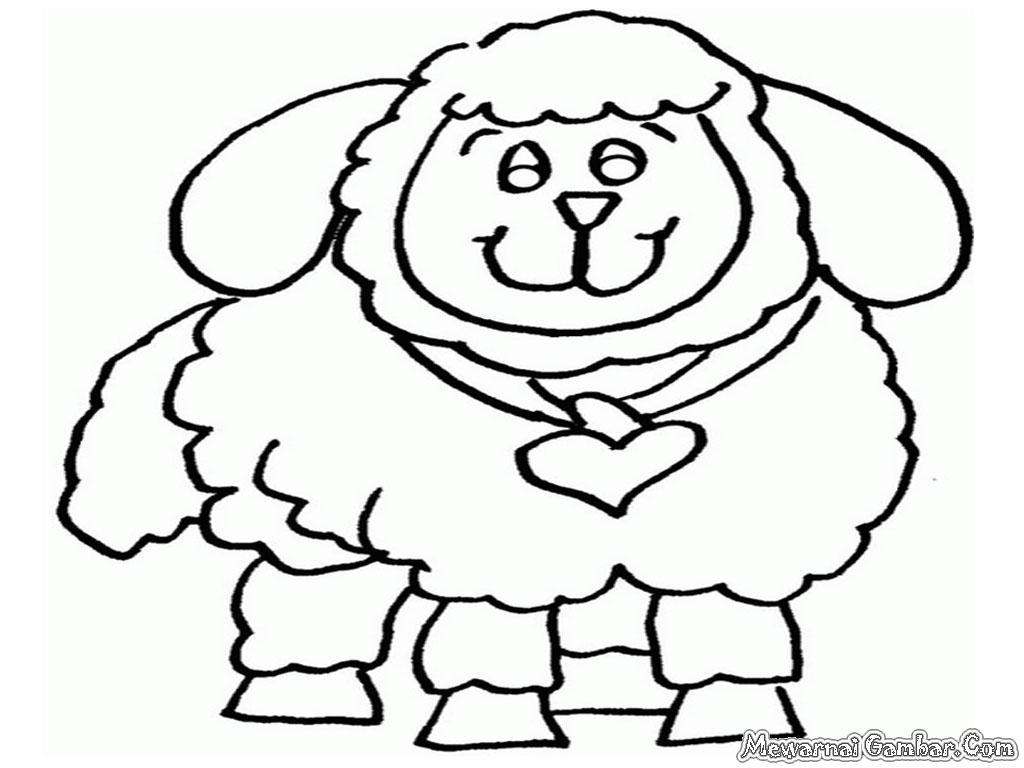 Mewarnai Gambar Domba Betina