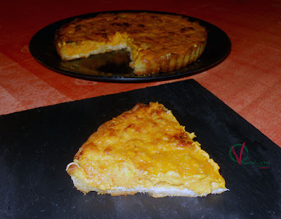 Pastel de calabaza y roquefort