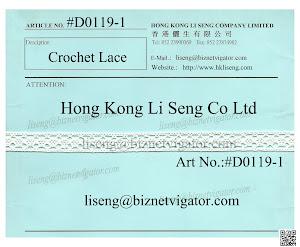 Crochet Lace Trims Manufacturer - Hong Kong Li Seng Co Ltd