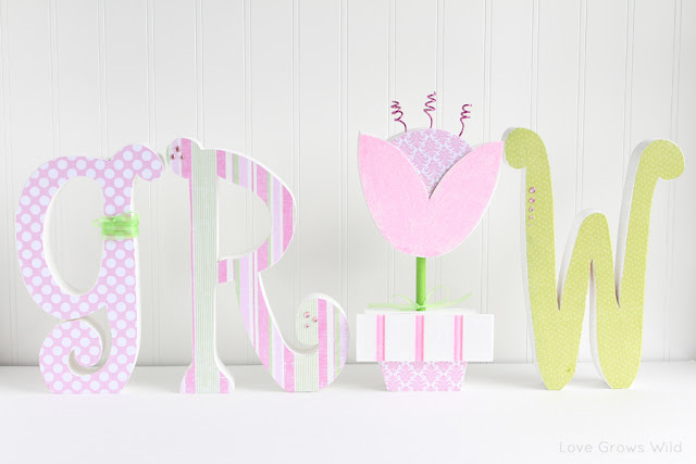 Wood Letters Decorated for Spring and a Wood Creations Giveaway | Love Grows Wild Blog Anniversary Celebration www.lovegrowswild.com #crafts #giveaway #bloganniversary