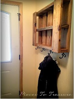Pallet Coat Hanger Storage Piece