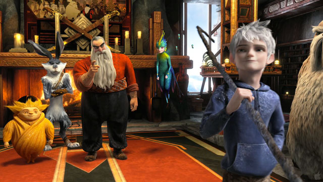 Jack Frost, Santa, Sandman, Tooth and Bunny in Rise of the Guardians disneyjuniorblog.blogspot.com