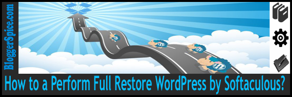 restore wordpress